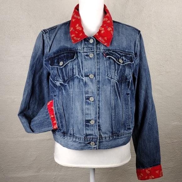 Levi Strauss Vintage Medium Wash Blue Jean Jacket